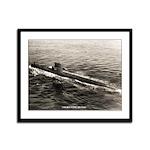 USS BLUEGILL Framed Panel Print