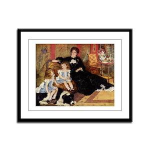 Renoir Family Dog Framed Panel Print