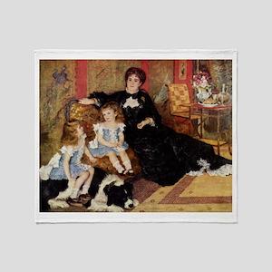 Renoir Family Dog Throw Blanket