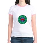 peace love twins Jr. Ringer T-Shirt