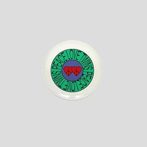 peace love twins Mini Button