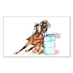 Barrel Racer Sticker (Rectangle 10 pk)