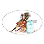 Barrel Racer Sticker (Oval 50 pk)