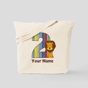 2nd Birthday Lion Tote Bag