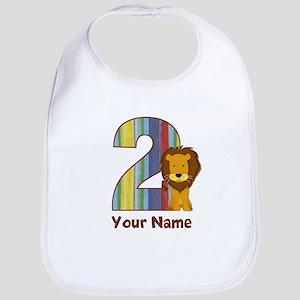 2nd Birthday Lion Bib