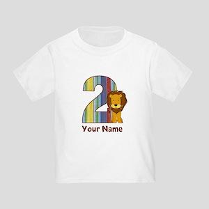 2nd Birthday Lion Toddler T-Shirt