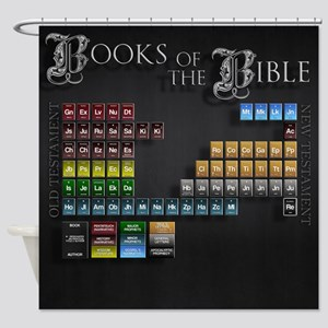 The Bible, Periodic Table, Shower Curtain