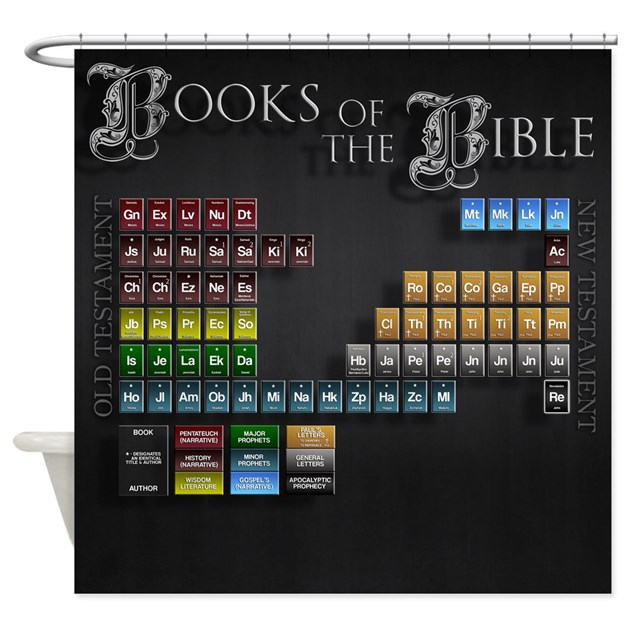 The Bible Periodic Table Shower Curtain By Thecafemarket