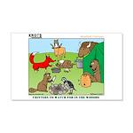 KNOTS Woodland Creatures Cartoon 22x14 Wall Peel