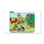 KNOTS Woodland Creatures Cartoon 22x14 Wall Peel