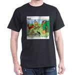 KNOTS Woodland Creatures Cartoon Dark T-Shirt