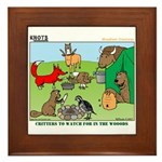 KNOTS Woodland Creatures Cartoon Framed Tile