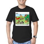 KNOTS Woodland Creatures Cartoon Men's Fitted T-Sh