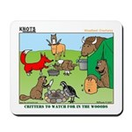KNOTS Woodland Creatures Cartoon Mousepad