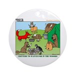 KNOTS Woodland Creatures Cartoon Ornament (Round)