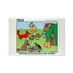 KNOTS Woodland Creatures Cartoon Rectangle Magnet