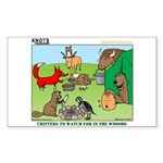 KNOTS Woodland Creatures Cartoon Sticker (Rectangl