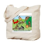 KNOTS Woodland Creatures Cartoon Tote Bag
