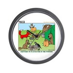 KNOTS Woodland Creatures Cartoon Wall Clock