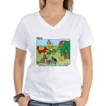 KNOTS Woodland Creatures Cartoon Women's V-Neck T-