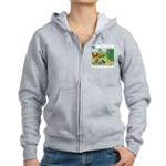KNOTS Woodland Creatures Cartoon Women's Zip Hoodi