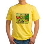 KNOTS Woodland Creatures Cartoon Yellow T-Shirt