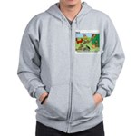 KNOTS Woodland Creatures Cartoon Zip Hoodie
