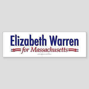 """""""Elizabeth Warren for MA"""" Sticker (Bumpe"""