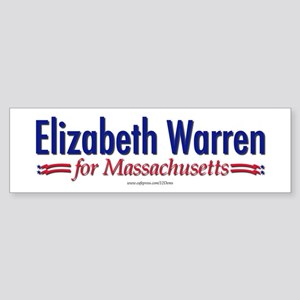 """Elizabeth Warren for MA"" Sticker (Bumpe"