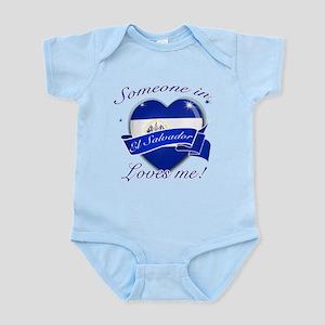 El Salvador Flag Design Infant Bodysuit