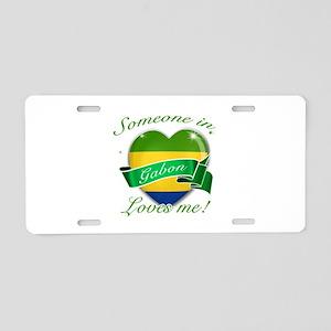Gabon Flag Design Aluminum License Plate
