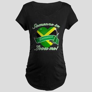 Jamaica Flag Design Maternity Dark T-Shirt