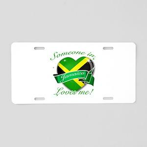 Jamaica Flag Design Aluminum License Plate