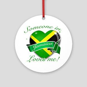 Jamaica Flag Design Ornament (Round)
