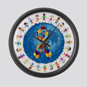 Autism-1 Large Wall Clock