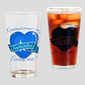 Somalia Flag Design Drinking Glass