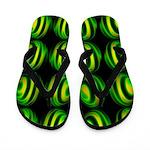Neon Green Sphere Flip Flops