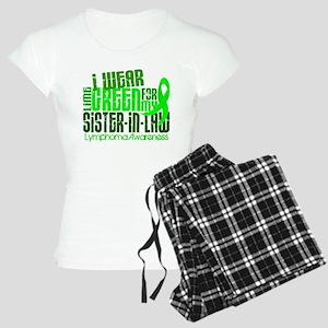 I Wear Lime 6.4 Lymphoma Women's Light Pajamas