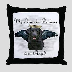 Labrador Retriever Angel Throw Pillow
