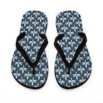 Slate Blue Pattern Flippity Flop Flip Flops