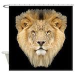 African Lion Shower Curtain