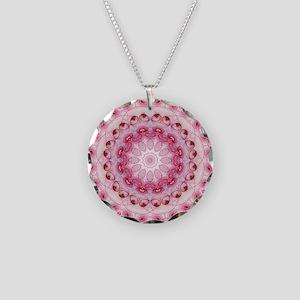 Rose Leaves mandala Necklace Circle Charm