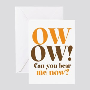 OW! OW! Greeting Card
