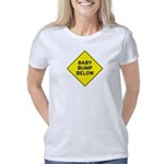 Baby Bump Below White Women's Classic T-Shirt