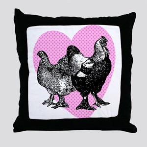 Chicken Heart Throw Pillow