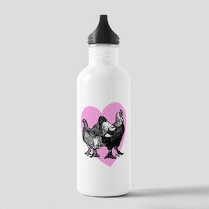 Chicken Heart Stainless Water Bottle 1.0L