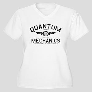 QUANTUM MECHANICS Women's Plus Size V-Neck T-Shirt