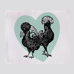 Chicken Heart Throw Blanket