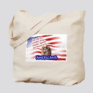 Patriotic Cavalier (Blenheim) Tote Bag