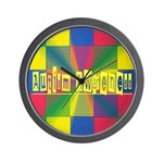 Autism Awareness Blocks Wall Clock